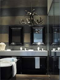 Masculine Bathroom Ideas Masculine Chandelier Striped Masculine Bathroom Color Ideas With
