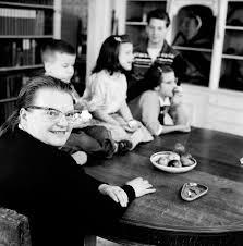 Living Room Theater North Bennington Shirley Jackson With Her Children North Bennington Vermont 1956