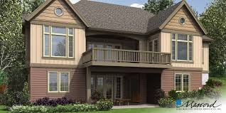 House Plans For Sloping Lots In The Rear Mascord House Plan 1337 The Ashwood