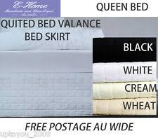 Quilted Bed Valance Queen Size Valances Ebay