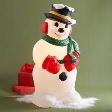 Light Up Snowman Outdoor Have Yourself A Merry Mad Men Christmas Retro Renovation