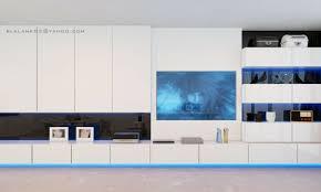 white gloss entertainment unit interior design ideas
