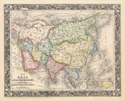 Map If Asia by 1861 Map Of Asia Showing Its Gt Political Divisions And Routes