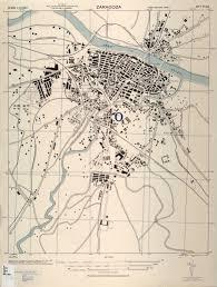 Zaragoza Spain Map by