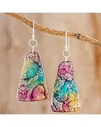 cd earrings find the best savings on recycled cd dangle earrings color