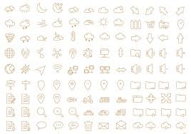 Resume Icons Free 60 Free Outline Icon Sets Perfect For Contemporary Designs