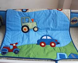 Baby Boy Cot Bedding Sets New 3d Stereo Embroidery Blue Cars World Baby Boy Crib Cot Bedding