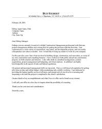 cover letter for a job examples constructing a cover letter 7 construction manager sample for