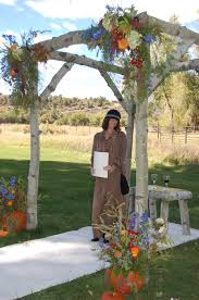 How To Make A Chuppah Colorado Mountain Wedding Aspen Log Arbor Chuppah Fall Flowers