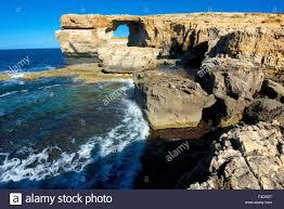 the zerka or azure window at dwejra park on gozo malta is a
