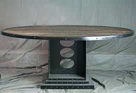 industrial glass dining table industrial round dining table beautiful glass metal dining table