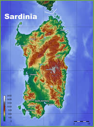 World Physical Map by Sardinia Physical Map