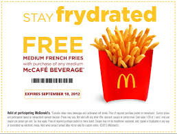 mcdonalds e gift card mcdonald s frydrate free fry coupon cheap free food