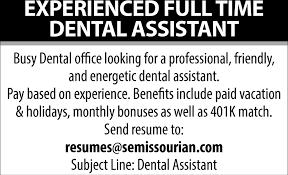 Subject Line For Resume Dental Assistant Resumes Semissourian Com