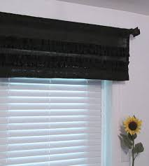 an office with black window valance design ideas and decors