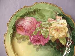 vintage china with pink roses antique pink roses plate charger lrl limoges by shoponsherman
