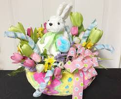 raz easter decorations raz easter bunny arrangement rabbit centerpiece rabbit table