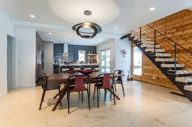 flooring sets tone for contemporary renovation an