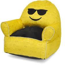 emoji pals soft faux fur kids sofa bean bag chair multiple