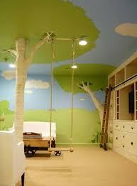 schaukel kinderzimmer schöne gestaltung für kinderzimmer baum und schaukel babyroom