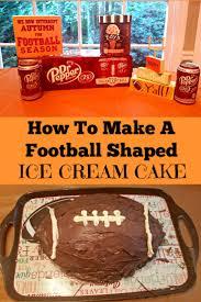 how to make a football ice cream cake mom u0027s magical miles