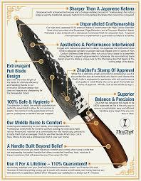 high end kitchen knives amazon com zhuchef japanese vg10 damascus chef knife gyuto katana