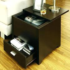 Living Room Table With Storage Interior Storage Side Tables Charging End Table Drawer Living