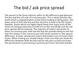 bid price forex ask vs bid price explained