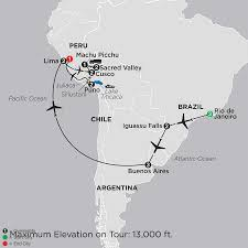 Brazil On South America Map by Cosmos Brazil Tours And Vacation Packages
