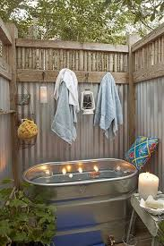 16 diy outdoor shower ideas rainbows backyard and yards