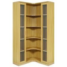 Kitchen Corner Display Cabinet Furniture Clear Polish Corner Cabinet With Shelves Alluring