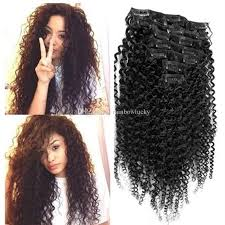 american afro curly clip in human hair extension