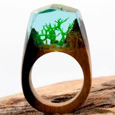 jewelry wooden rings images Hot sale resin magic wooden rings for women rainforest wooden ring jpg