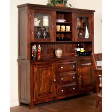 Sunny Design Furniture Vineyard Wood China Buffet U0026 Hutch In Rustic Mahogany Humble Abode