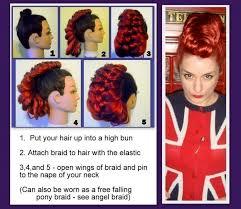 hair color put your picture mohawk punk rock fauxhawk hair extension costume wig accessory