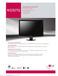 download free pdf for lg w2252tq monitor manual