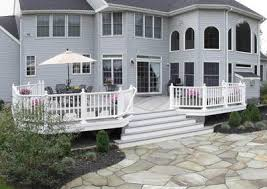 Deck Stairs Design Ideas Backyard Deck With Center Stairs Search Decks