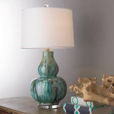Gourd Table Lamp Tie Dye Double Gourd Table Lamp Sea Spray Gourds And Glazed Ceramic