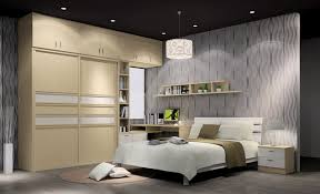 bedroom cheerful design with dark walnut mosaic covering
