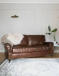 Vintage Leather Sofa Bed Vintage Leather Sofa 3 Seater Rose U0026 Grey