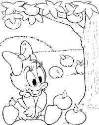 baby daisy duck tree apple coloring disney