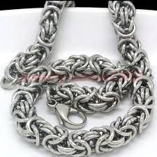 stainless steel byzantine necklace images 2018 cool stainless steel silver turkish round byzantine chain jpg