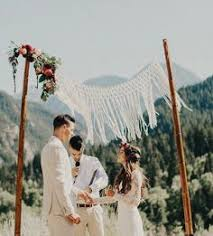 Bamboo Chuppah Macrame Wedding Arch Chuppah Bohemian Wedding Rustic Wedding