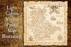 pirate treasure map u0026 illustrations illustrations creative market