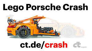 porsche lego set lego porsche crash test the awesomer