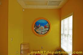 undersea wall murals for dentist s office undersea wall mural seals and nemo complete