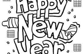 happy new year coloring pages just colorings
