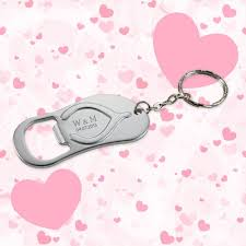 wedding favor keychains keychain wedding favors flip flop bottle opener silver wedding
