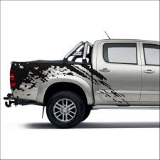 free shipping 2pc mudslinger body rear tail side graphic vinyl for