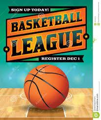 basketball c brochure template basketball league flyer illustration stock vector illustration